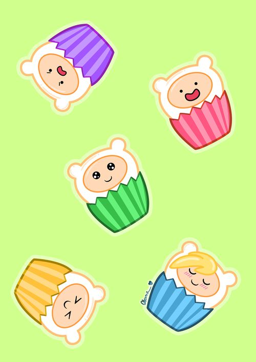 Adventure Time, could actually be adapted to a mega awesome cup cake set!