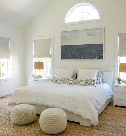 Neutral White & Beige Coastal Bedrooms Modern Style... http://www.completely-coastal.com/2017/02/neutral-white-beige-coastal-bedrooms.html