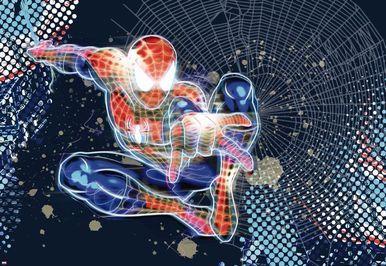 Spiderman Neon Photomural