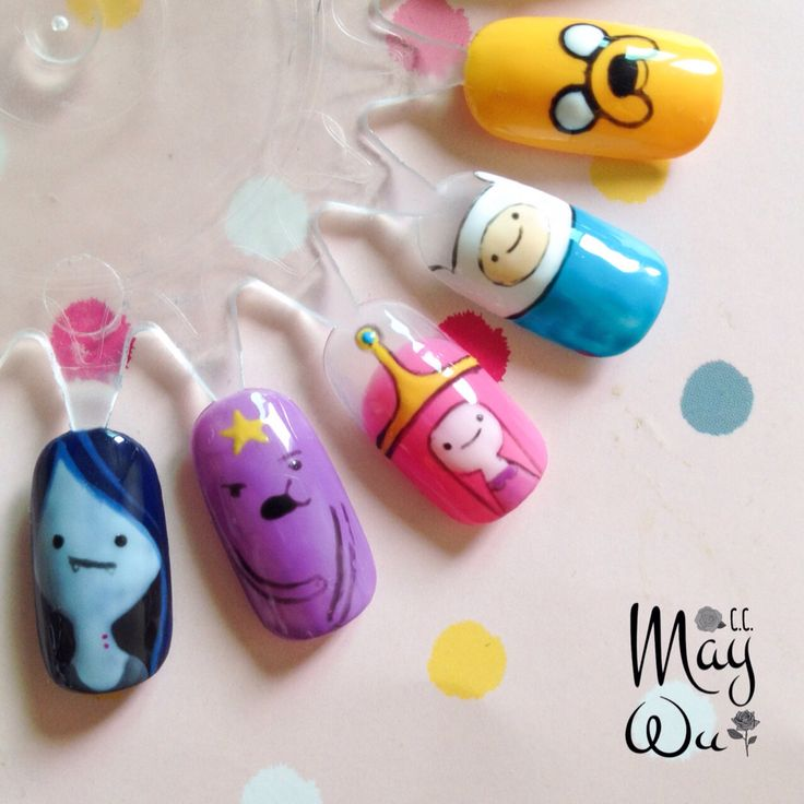 Adventure Time gel nail art by May Wu