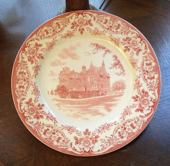 Boston University Commemorative Plate  by 4HollyLaneAntiques