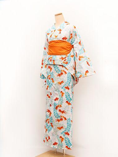 kawaii kimono: yukata: kingyo / 金魚