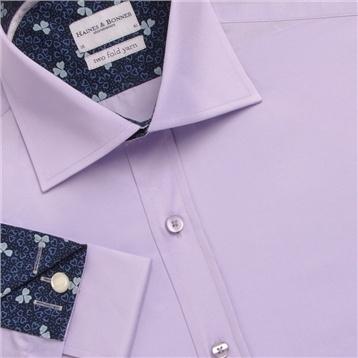 Haines & Bonner Plain Sateen Shirt Lilac