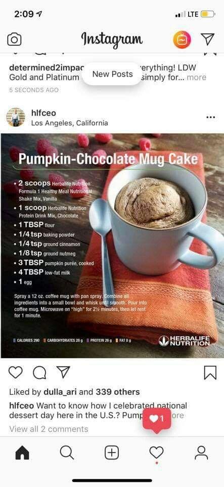 Herbalife muffin | Protein mug cakes, Chocolate mug cakes ...