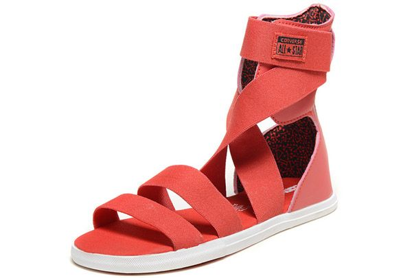 Converse france chaussures All Star rouge hauts sommets sandales