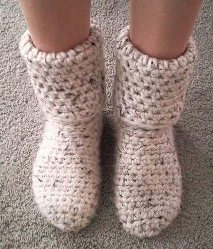 crochet boots pattern free | Slipper Boots! Free pattern | Crochet Socks, Legwarmers & Slippers Pa ...