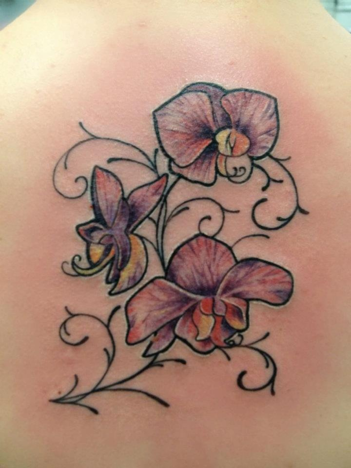 orchid tattoo names written with vines tattoos pinterest orchid tattoo tattoo and tatoos. Black Bedroom Furniture Sets. Home Design Ideas