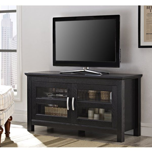 Traditionally used to store electronics, TV stands offer a touch of panache to many other spaces in your home. Craft a welcoming entryway vignette with a pair of bold lamps and an array of lush florals, or arrange a glittering array of decanters, glassware, and mixers in the parlor for a fully-stocked home bar.