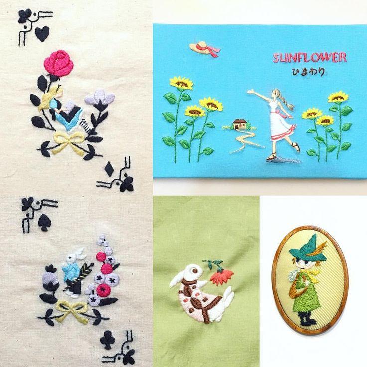 西荻窪の刺繍教室『アンナとラパン』参加者さんの作品。 今から「ひまわりちゃん」を刺繍されていました。季節ものは早めに刺繍して飾りたいですよね。 色使いが新鮮です✨ アリスの刺繍は巾着にされていましたが、タロットカードを入れるそうです!🃏 スナフキンはフィンランド旅行に行く時に付けていくそうです🎀 ・ ・ #刺繍 #手刺繍 #刺しゅう #ハンドメイド #자수 #ししゅう #手作り #手芸 #刺繡 #丁寧な暮らし #趣味 #趣味の時間 #embroidery #자수 #вышивка #broderie #手作り #手芸 #刺繡 #刺繍部 #bordado #日々のこと #暮らしを楽しむ #日々の暮らし #シンプルに #alice #aliceinwonderland #ムーミン #スナフキン #ロカリ刺繍部