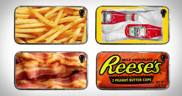 Phone cases !!Clay gets the bacon one and Kevin the Ketchup one and I'll take fries and Reese's cup since I'm a junk food junkie!!!  Love me sweet and salty stuff.