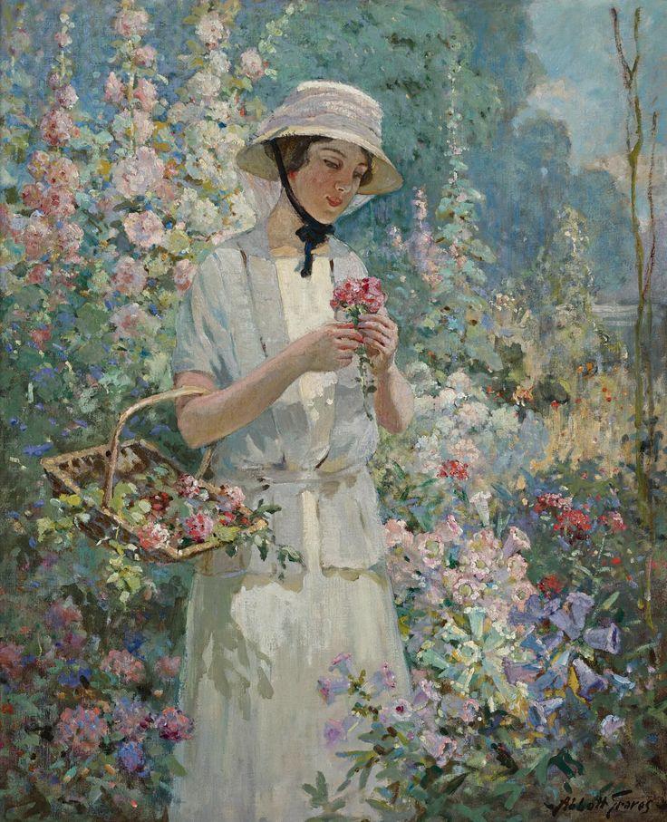 Женщины и цветы в картинах художников
