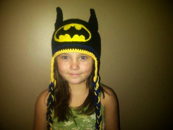 Batman Hat Crocheted in Sizes Newborn to Adult