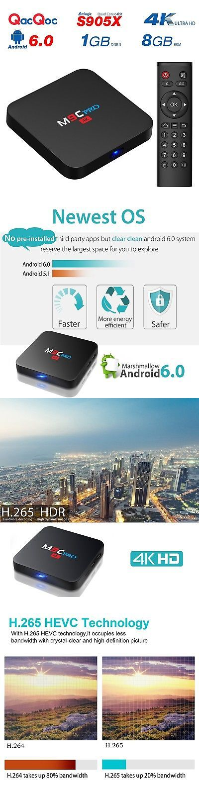 Internet and Media Streamers: Qacqoc M9c Pro Android 6.0 Android Tv Box 4K New Amlogic S905x Chipset-Quad C... -> BUY IT NOW ONLY: $42.96 on eBay!