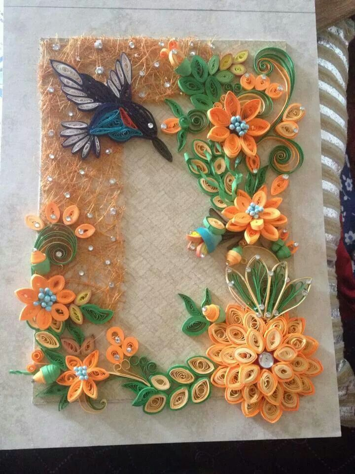 474 best quilling work images on pinterest paper quilling quilled hummingbird among lots of flowers pinned by dawn kerley mightylinksfo