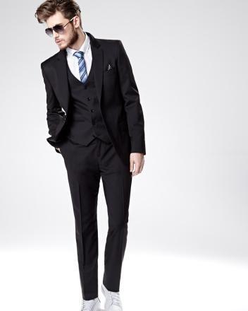 Preston stretch wool blend blazer