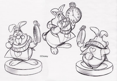 White Rabbit sketches. Very cute.