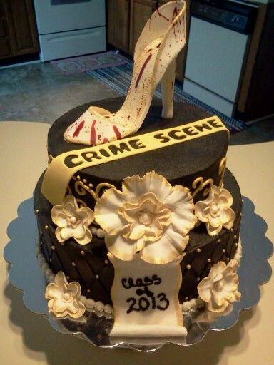 Criminal justice graduation cake