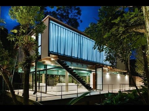 Contemporary House Design Ideas  Luxury Condo With Glass Panel And  Surrounded By Native Forestry