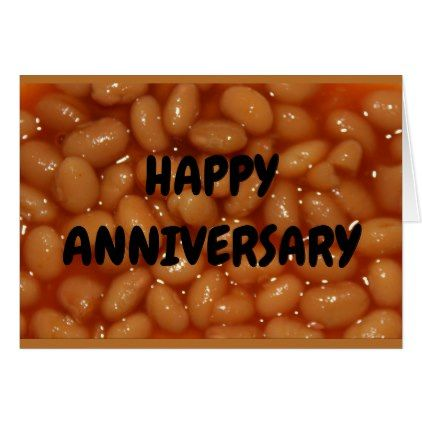 Anniversary Humor - Couple Of Favorite Human Beans Card - #customizable create your own personalize diy