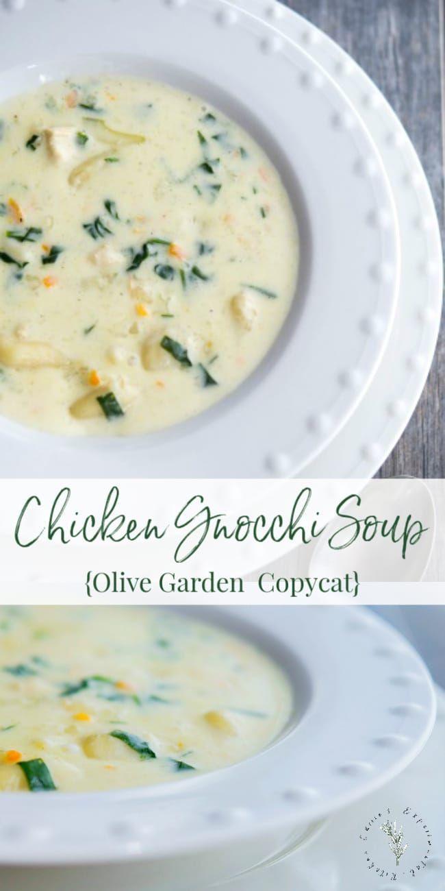Olive Garden S Copycat Chicken Gnocchi Soup Recipe In 2020 Gnocchi Recipes Soup Chicken Gnocchi Soup Olive Garden Chicken Gnocchi