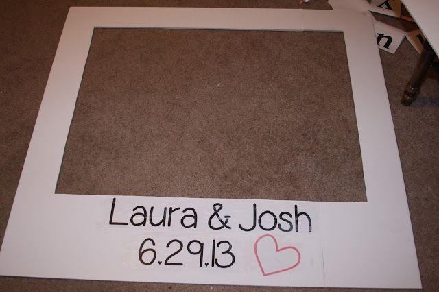 make your own giant polaroid frame, polaroid photo booth, wedding DIY polaroid