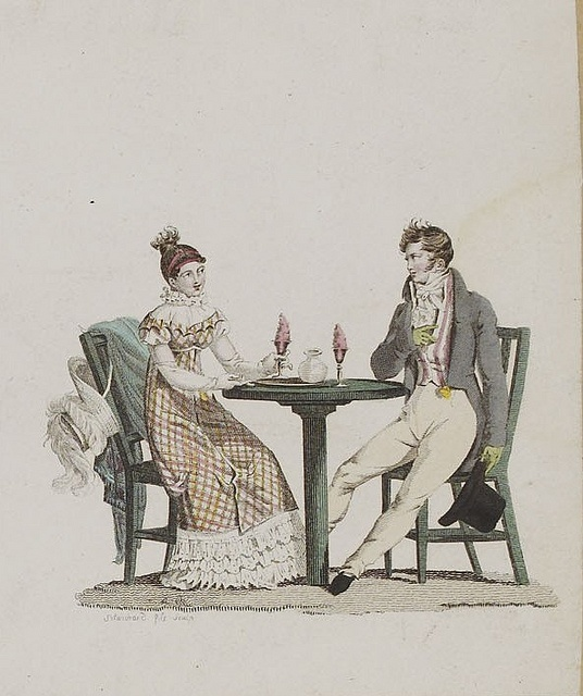 1810 Eating ices seems to have been popular, even before Ice Cream Parlors came to be in the USA