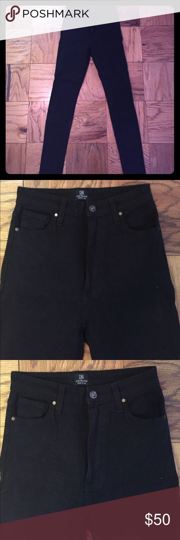 Just Black high-waisted stretch skinny jean Just Black high-waisted stretch skinny jean in black. Very flattering and comfortable. In perfect condition. Just Black Jeans Skinny