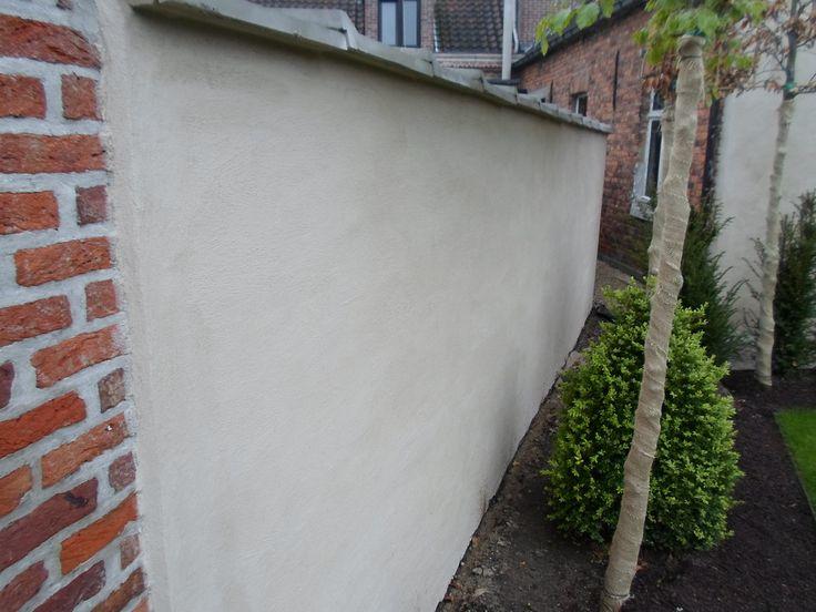 Foto's - Travertijn traskalk tuinmuur