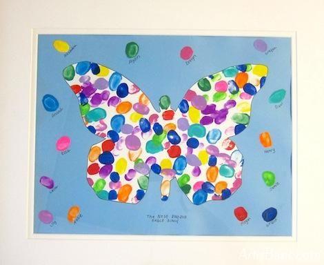 Fingerprint Artwork for Kindergarten