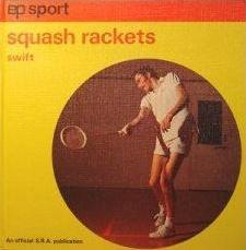 Vintage squash racquet book cover.