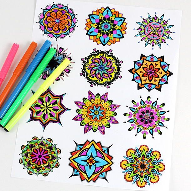 De Stressing Mandala Coloring Pages