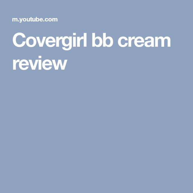 Covergirl bb cream review
