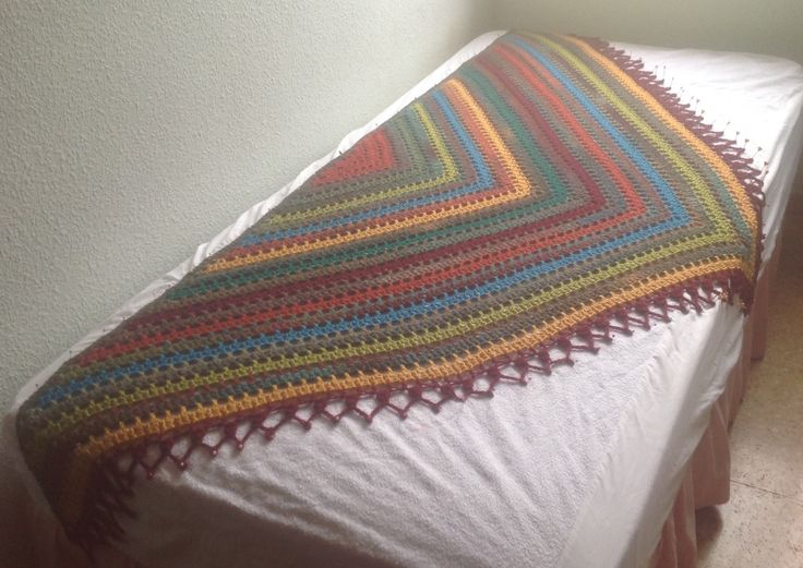 Winter warm shawl