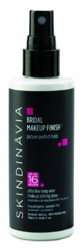 Want to try this... Skindinavia Bridal Makeup Finish Setting Spray $30 This is THE best makeup setter EVER!