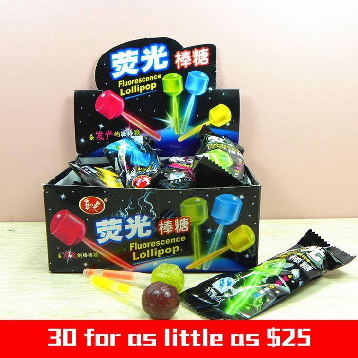 Купить товар30 частей закуски флуоресценция леденец светящийся creative подарки светящийся леденец свадьба конфеты продукты в категории Сушеные фруктына AliExpress.