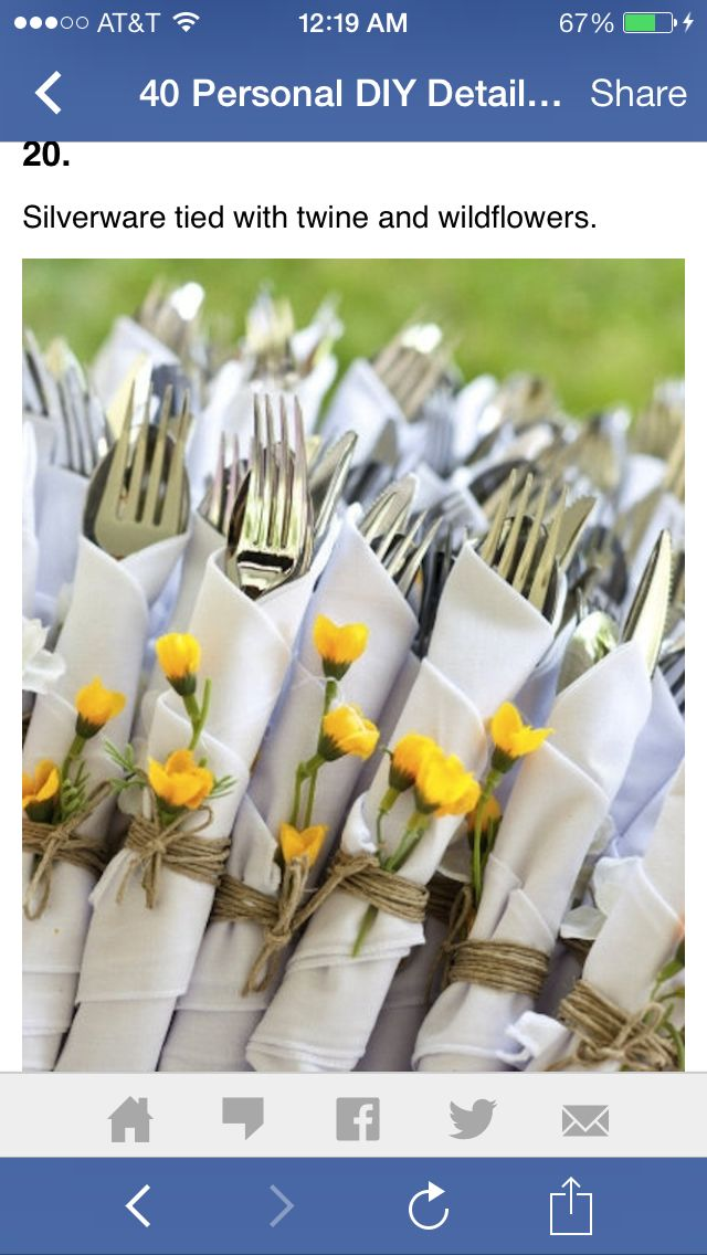 This is a very cute backyard wedding idea, Matt's mom is going to have to grow alot of little yellow flowers for us <3