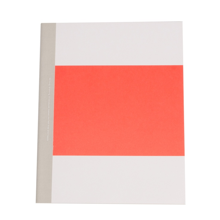 """""""Writing, drawing, a notebook makes me feel free and happy"""" Colour block notebooks in three colours from STUDIONO44.COM. £4.00"""