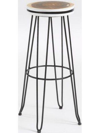 Sgabello alto, senza schienale, per creare più spazio all'ambiente. Grintoso e vivace. La seduta è realizzata con un cerchio di un tronco di legno e gambe in metallo. Disponibile nero, giallo o rosso arancio. Affascinante e molto gradevole in color nero. Più brioso e festoso colorato.
