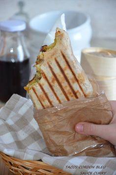 Tacos lyonnais au cordon bleu et sauce gruyère,à tester si vous ne connaissez pas!!