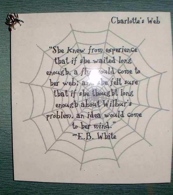 The best quote ever from Charlotte's Web. Must remind myself of this every day!     Be comfortable and productive while you work ...