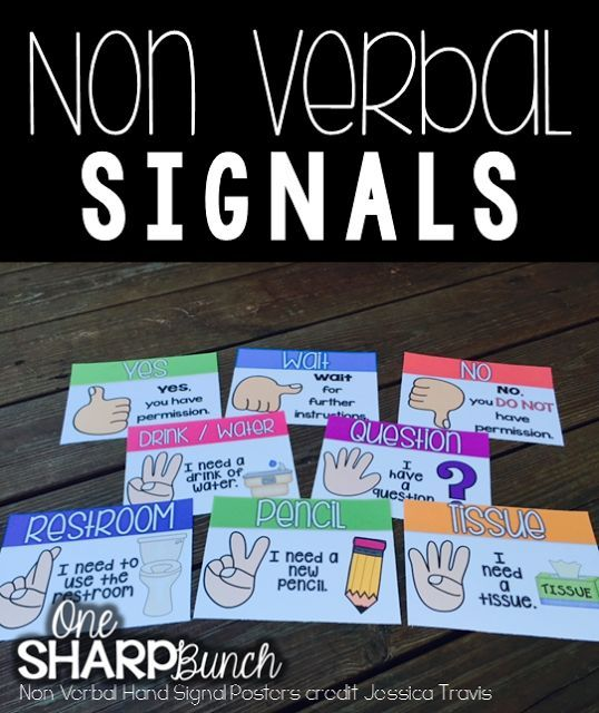 Classroom Management - Use hand signals so you easily know what a student needs!