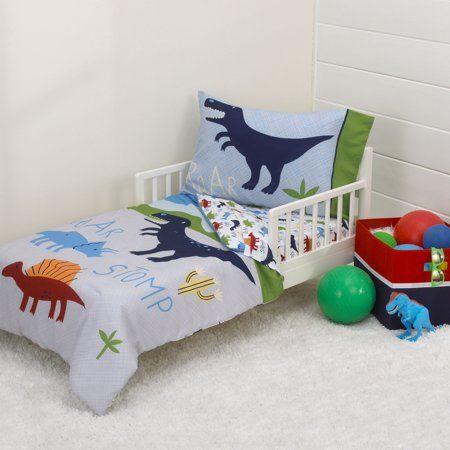 Best Parent S Choice Dino Boy Blue Green Grey 4Pc Toddler 640 x 480