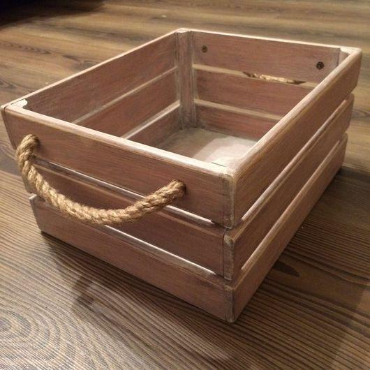 Корзины, коробы ручной работы. Ярмарка Мастеров - ручная работа. Купить Ящик - ящичек, декоративный, деревянный.. Handmade. Ящик, кашпо