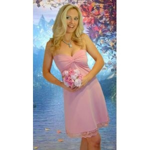 Strapless Pink Bridesmaid Dresses with lace hem (Apparel)  http://howtogetfaster.co.uk/jenks.php?p=B0013DHH5E  B0013DHH5E