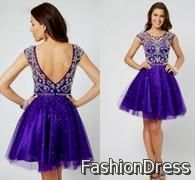 Nice purple party dresses for juniors 2017-2018