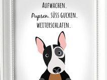 Kunstdruck A4 HUND & Herrchen...