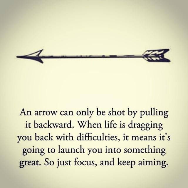 An Arrow Can Only Be Shot By Pulling It Backward. When