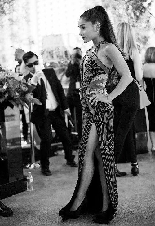 Ariana Grande black and white