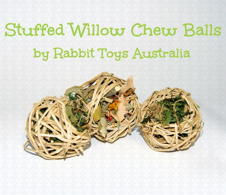 These stuffed willow ball treats fly off the shelves whenever we put them in our shop and now they are available for our online customers too! Our almost DIY rabbit treat balls are so awesome because you can actually customize whats inside of this toy! Yep that's right, out of the lists below YOU ge