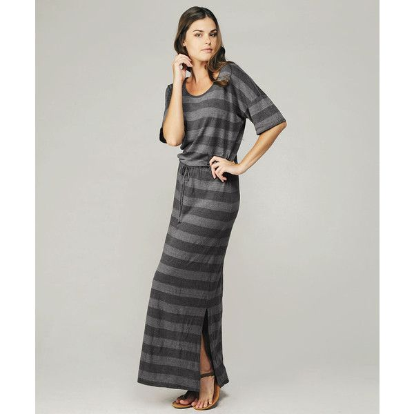 Short Sleeve Striped Maxi Dress found on Polyvore featuring polyvore, women's fashion, clothing, dresses, women, slimming maxi dresses, cotton maxi dress, striped maxi dress, short-sleeve maxi dresses and stripe maxi dress